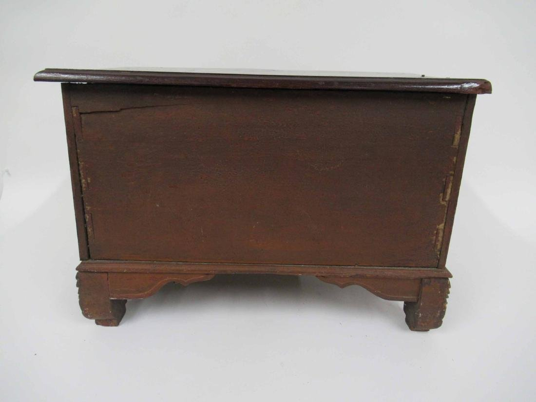 Chinese Carved Hardwood 4 Drawer Chest on Stand - 3