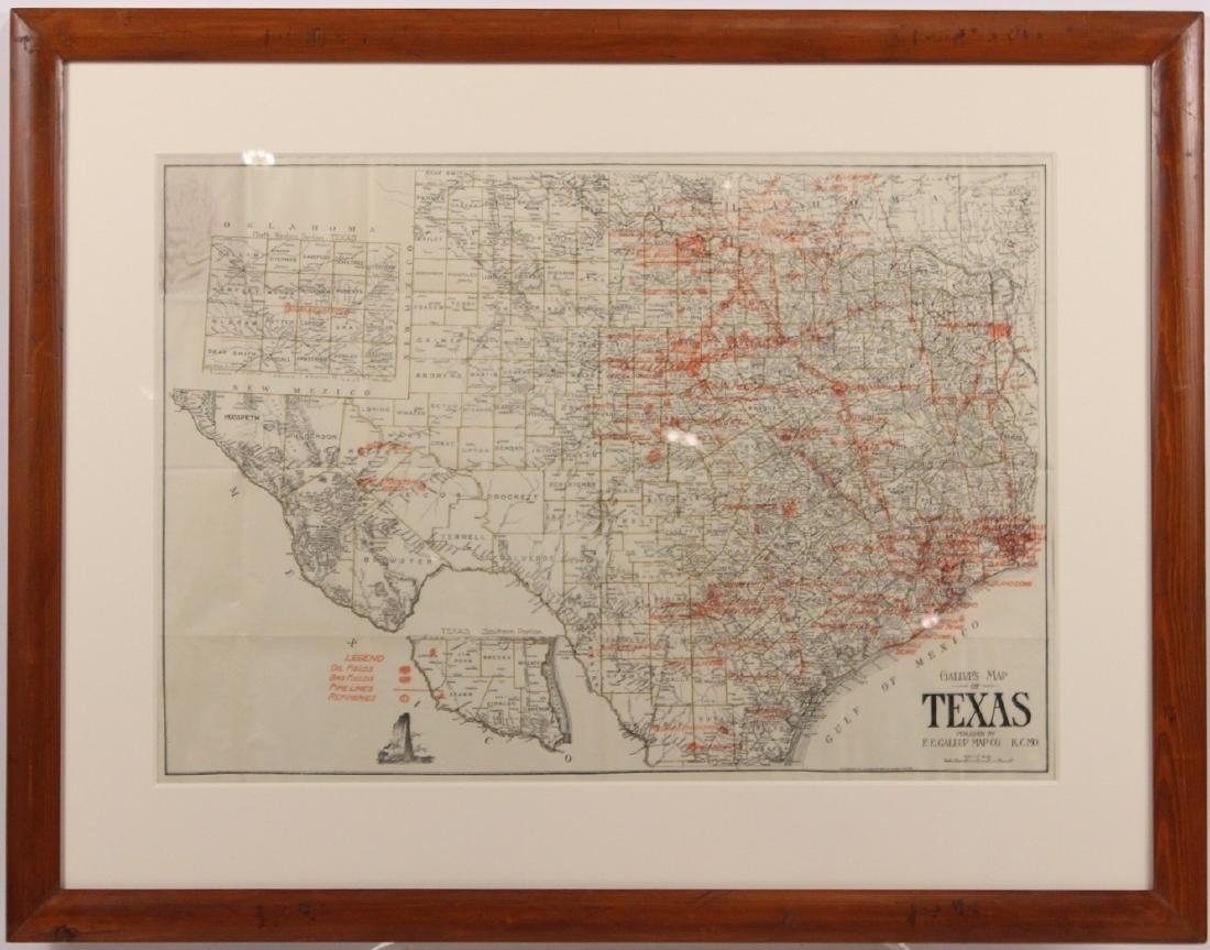 Map of Texas Oil Drilling Sites