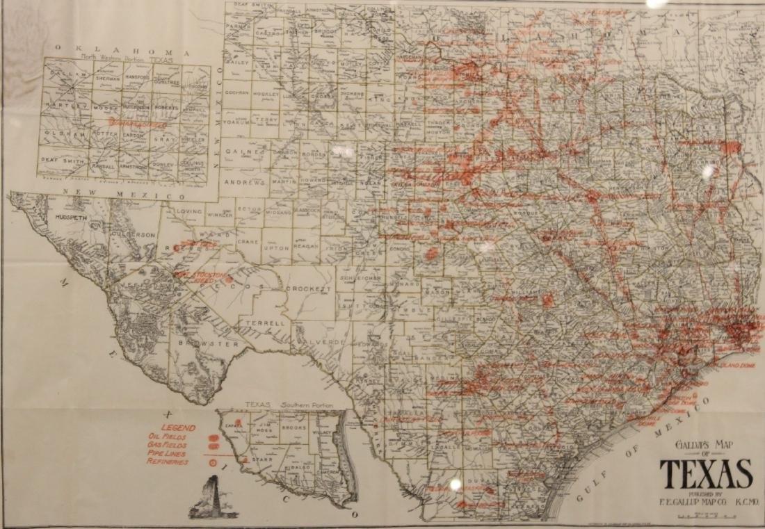 Map of Texas Oil Drilling Sites - 2