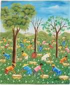 Oil on Canvas, Haitian Landscape, Jean B. Chery