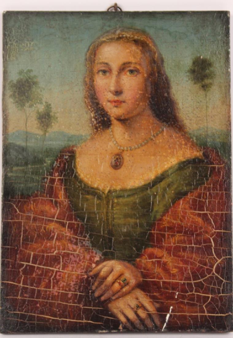 Oil on Board, Portrait of a Lady