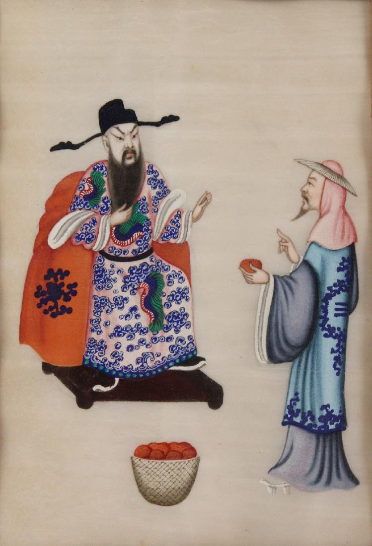 Two Chinese Paintings on Silk - 4