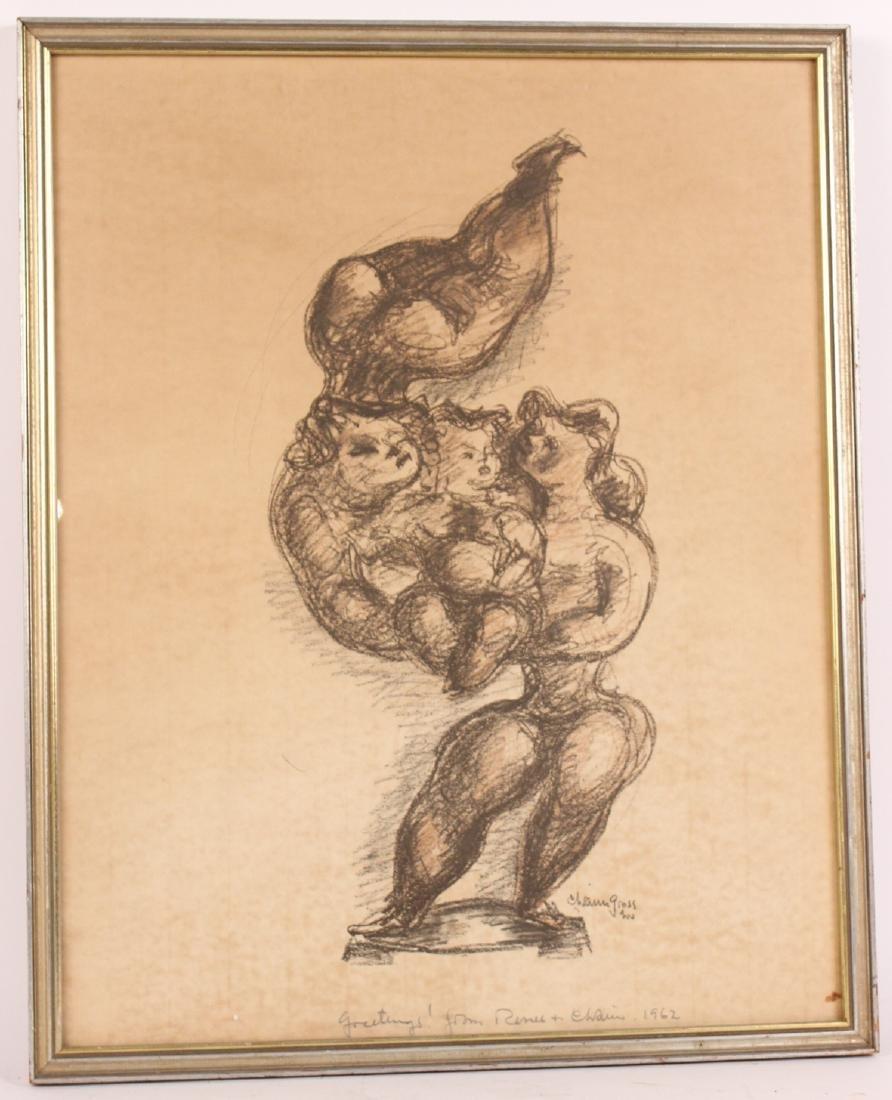 Print, Figures, Chaim Gross