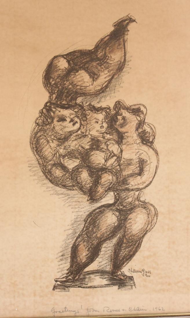 Print, Figures, Chaim Gross - 2