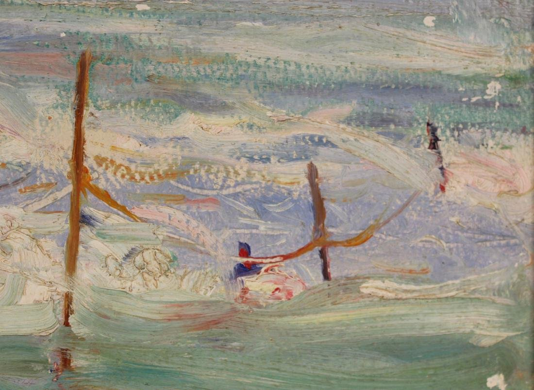 Oil on Board, Seascape with Figures - 4