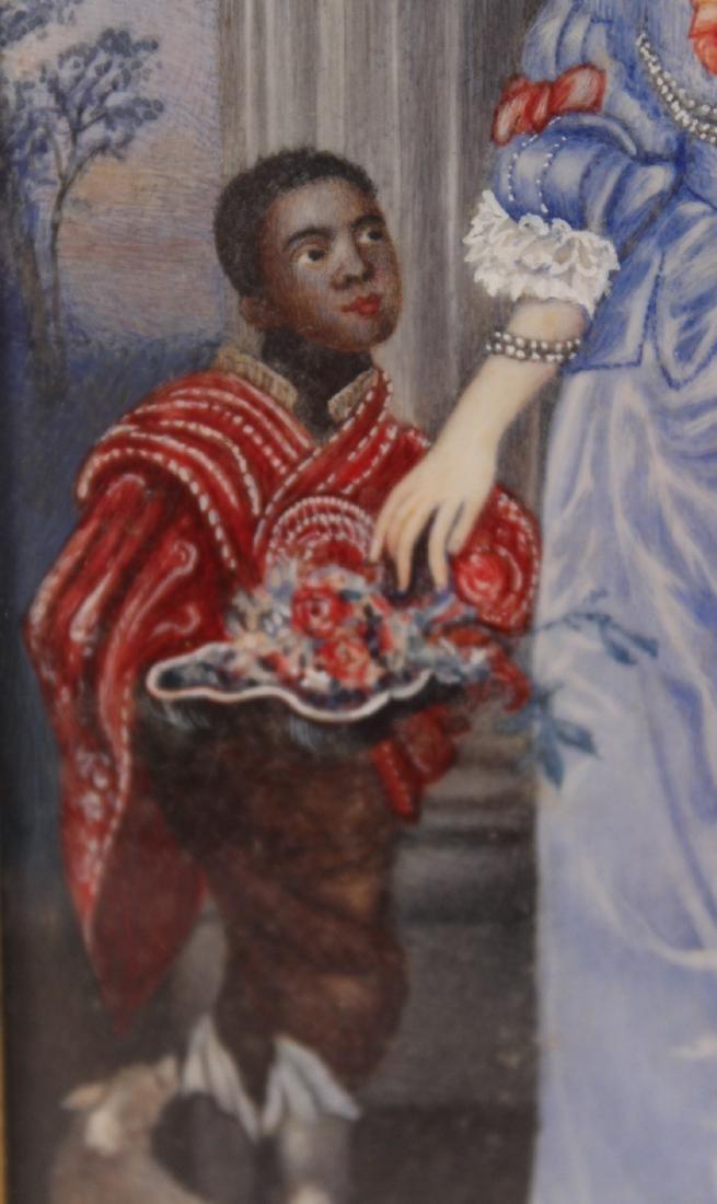 Oil on Paper Miniature Portrait of Lady - 4