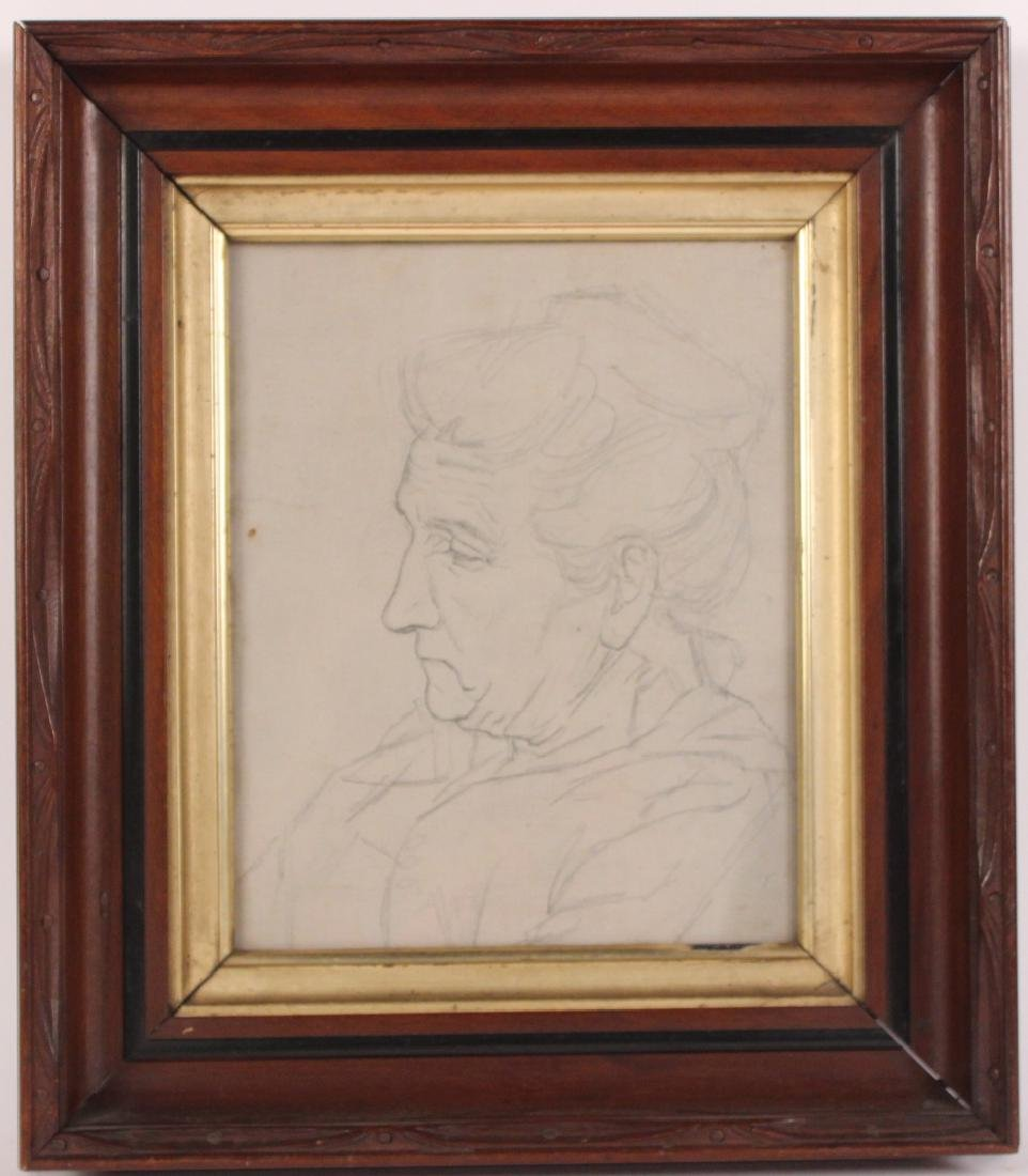 Pencil On Paper Drawing of Woman