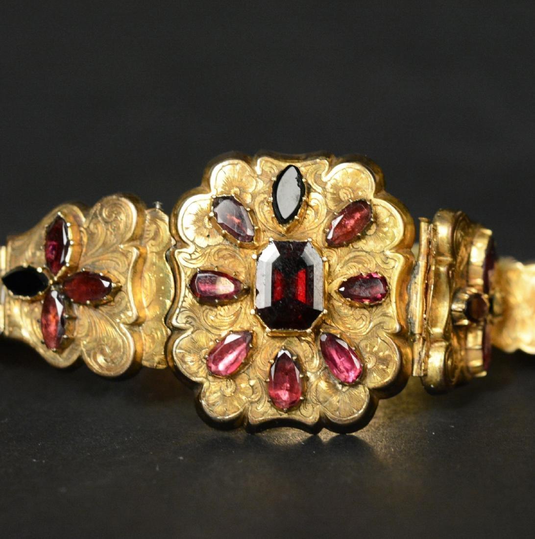 Victorian Gold Filled Amethyst Bracelet