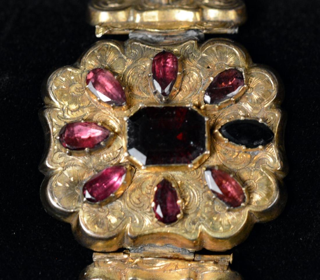 Victorian Gold Filled Amethyst Bracelet - 2