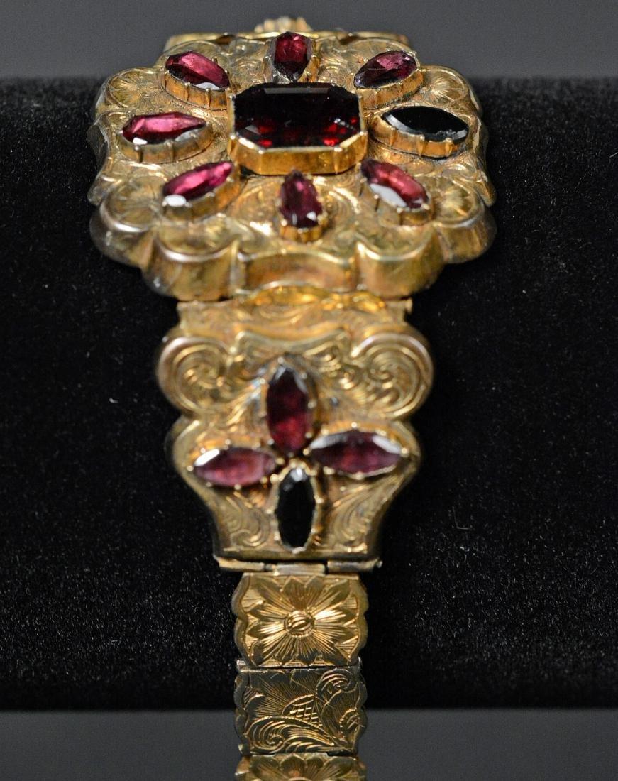 Victorian Gold Filled Amethyst Bracelet - 3