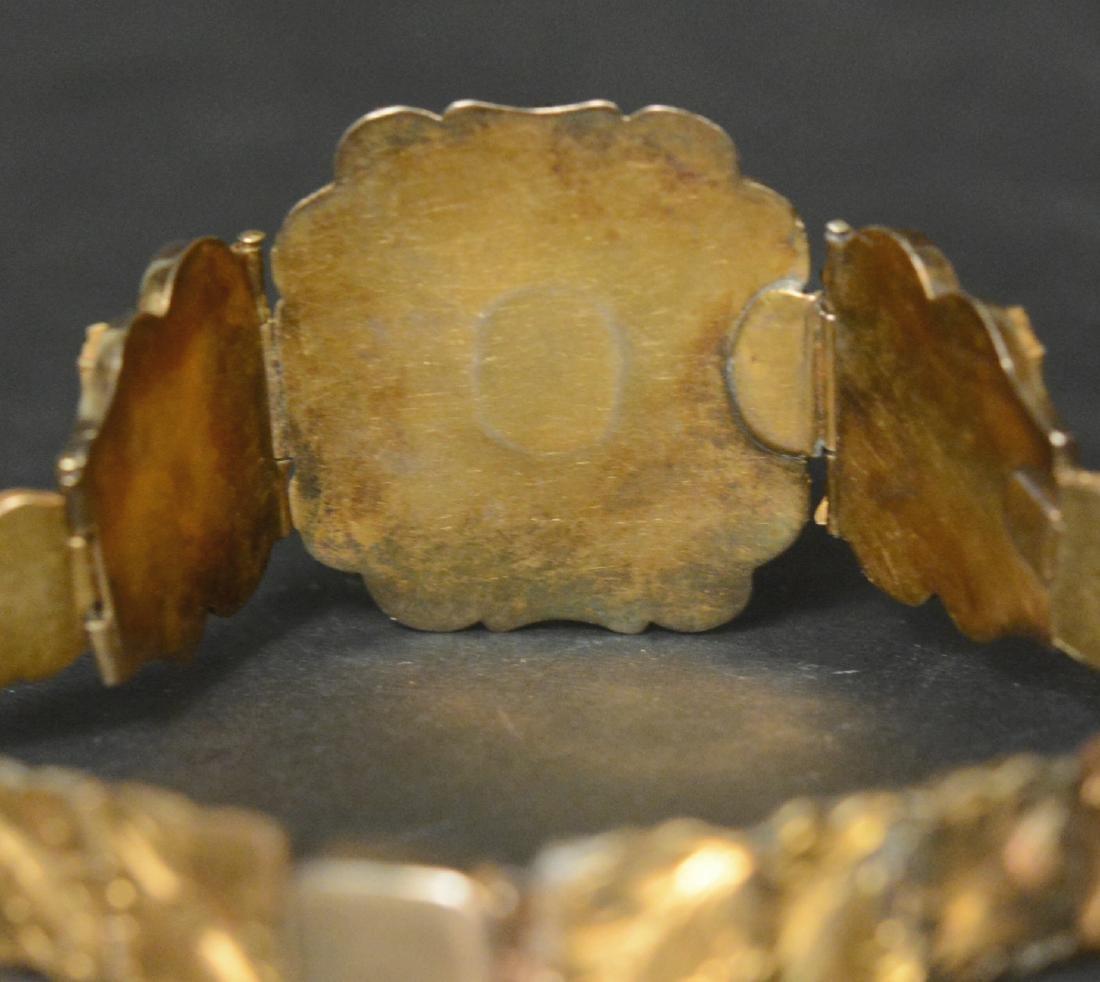 Victorian Gold Filled Amethyst Bracelet - 4