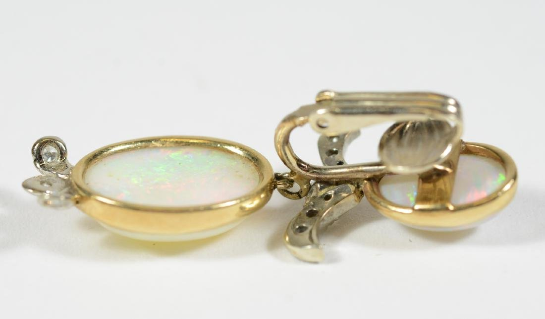 14K Yellow Gold Platinum Opal Diamond - 2