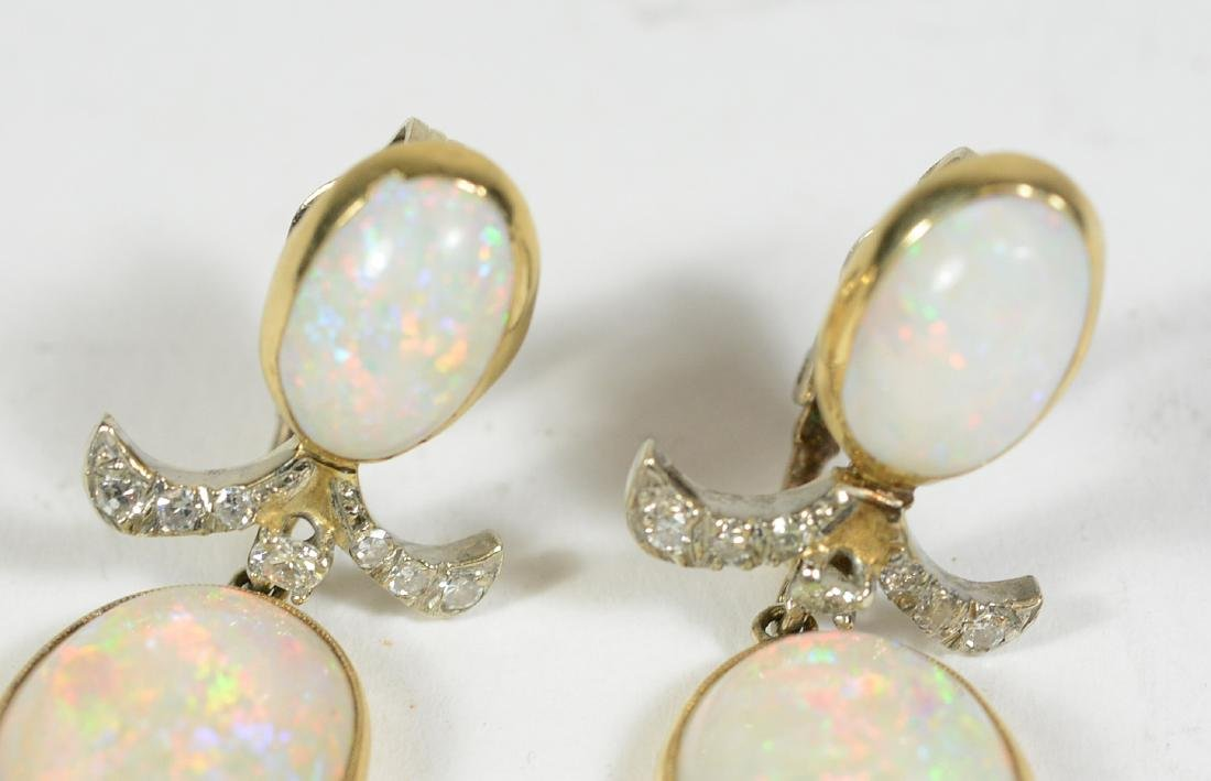 14K Yellow Gold Platinum Opal Diamond - 4