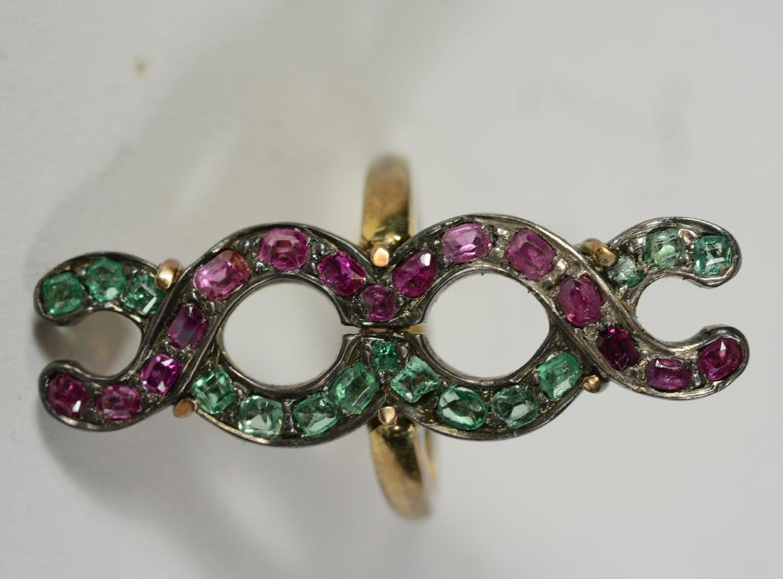 Yellow Gold Pink & Green Hardstone - 2