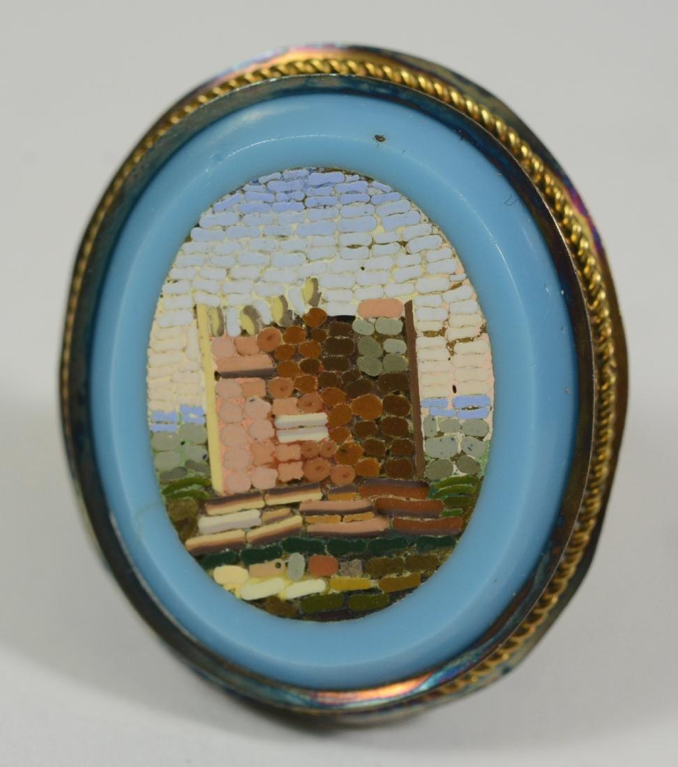 14k Yellow Gold Micro Mosaic Ring