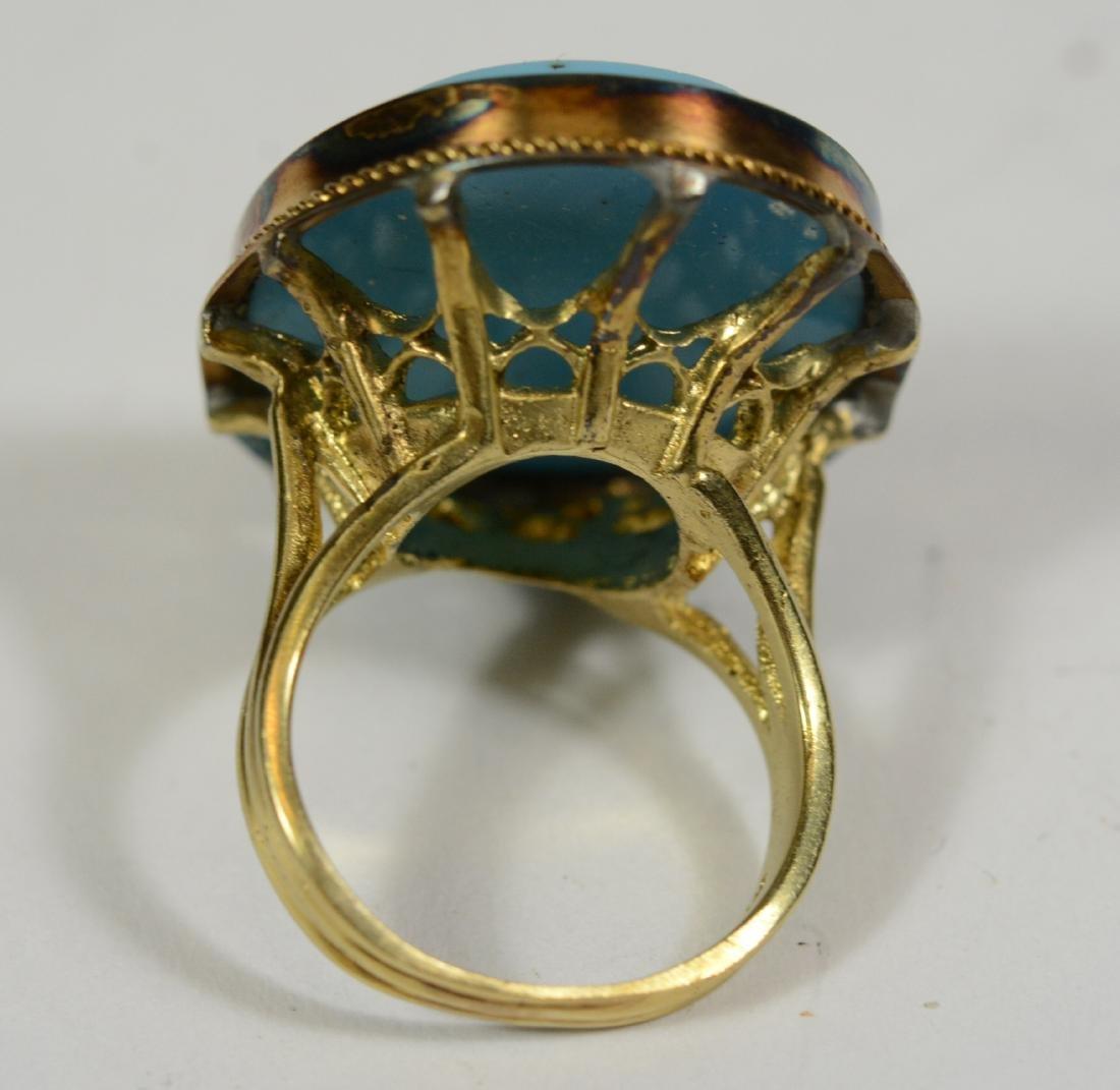 14k Yellow Gold Micro Mosaic Ring - 2