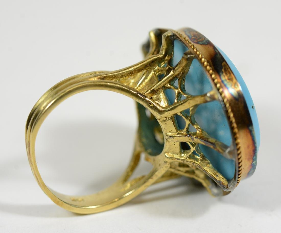 14k Yellow Gold Micro Mosaic Ring - 3