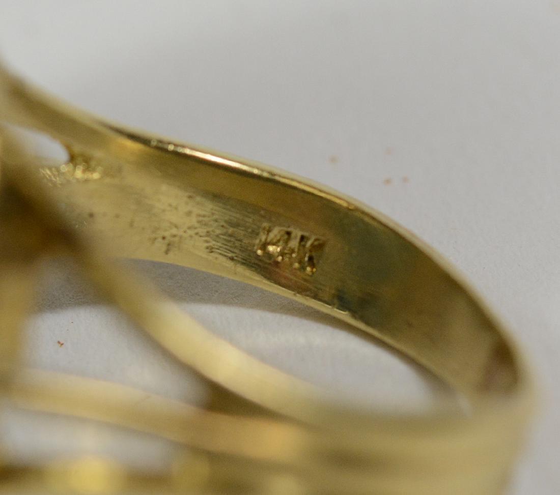 14k Yellow Gold Micro Mosaic Ring - 4