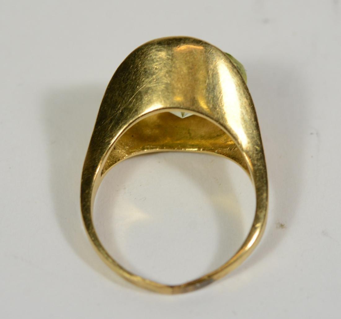 Modernist Yellow Gold & Lemon Quartz Ring - 2