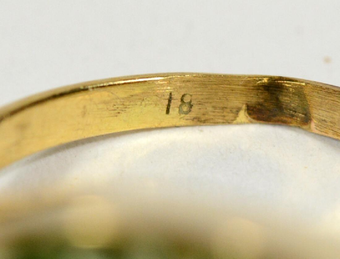 Modernist Yellow Gold & Lemon Quartz Ring - 4