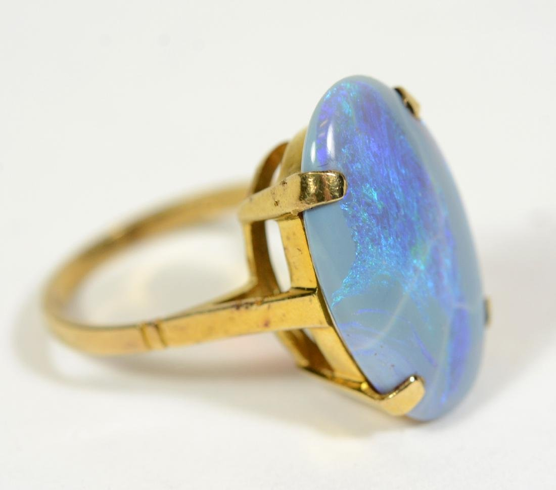 Yellow Gold Lavender Opal Ring - 2