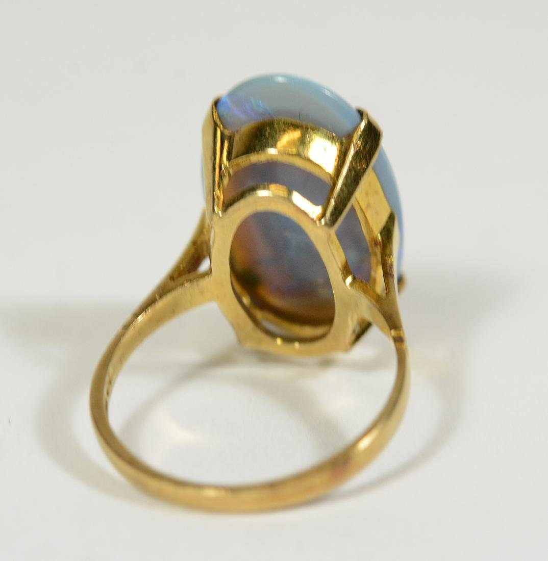 Yellow Gold Lavender Opal Ring - 4
