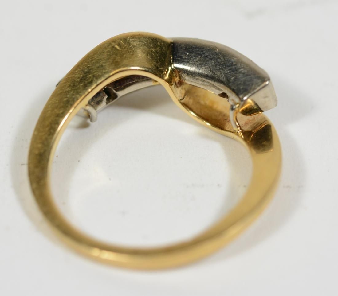 Modernist Yellow Gold Emerald Ring - 2