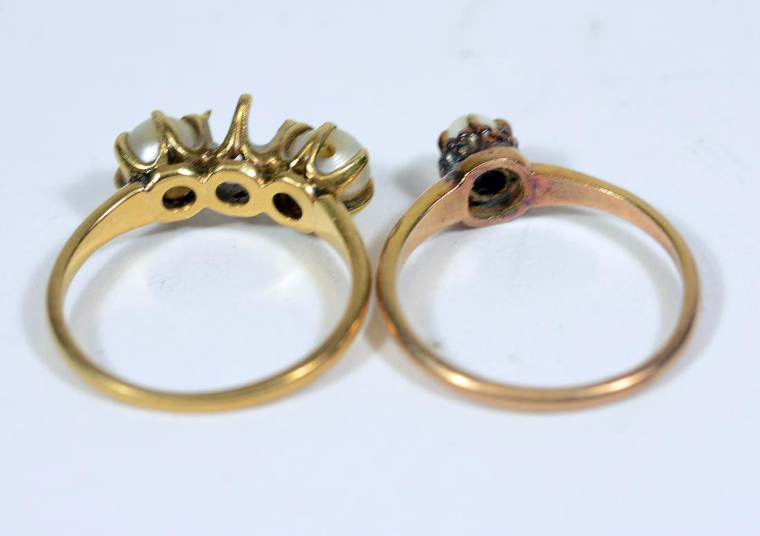 Four Yellow Gold Rings - 4