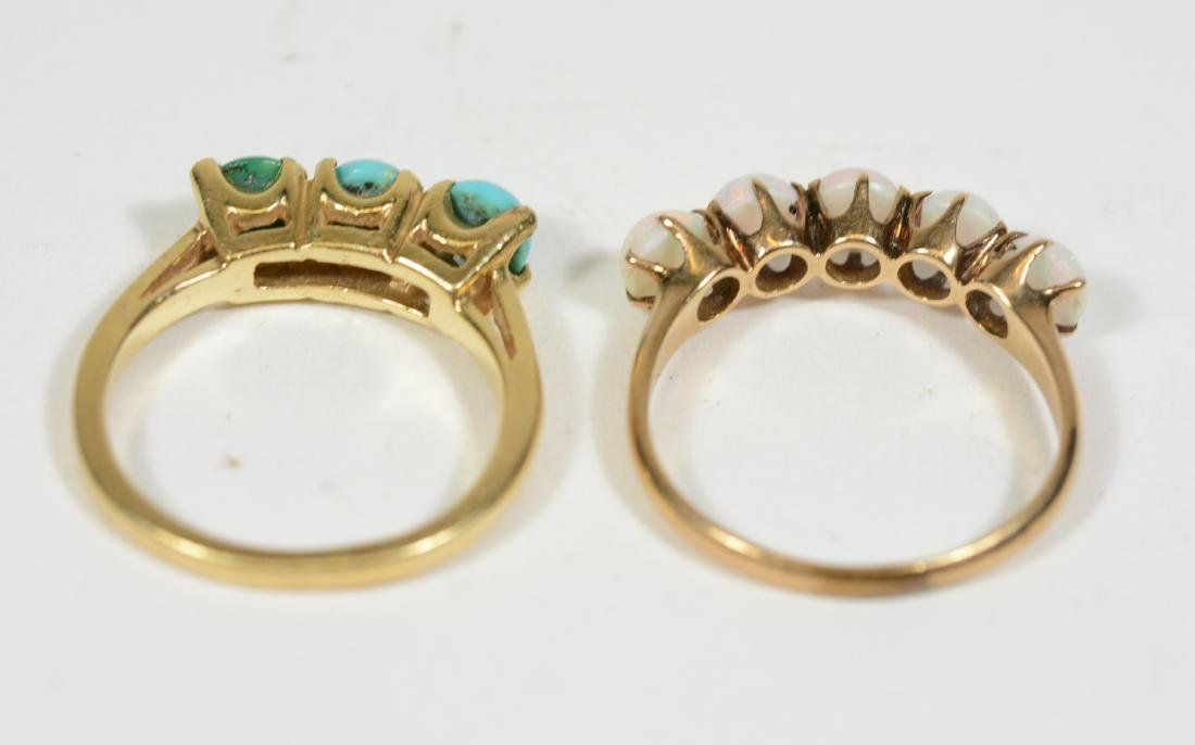 Four Yellow Gold Rings - 6