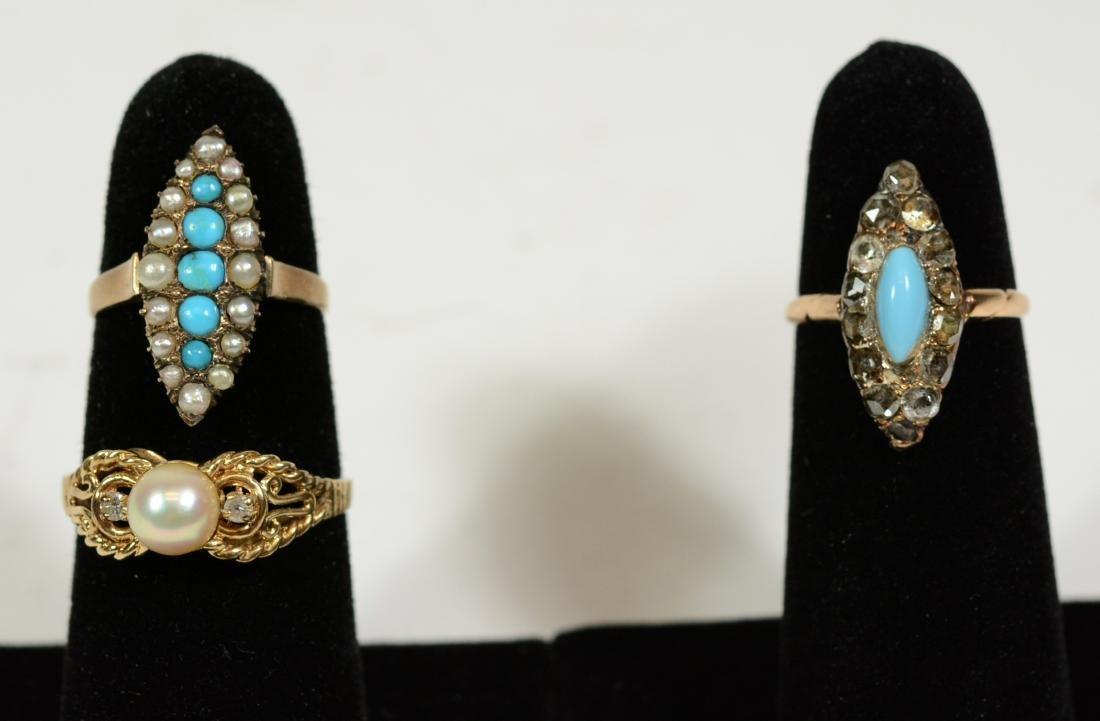 Three Small Gold Rings
