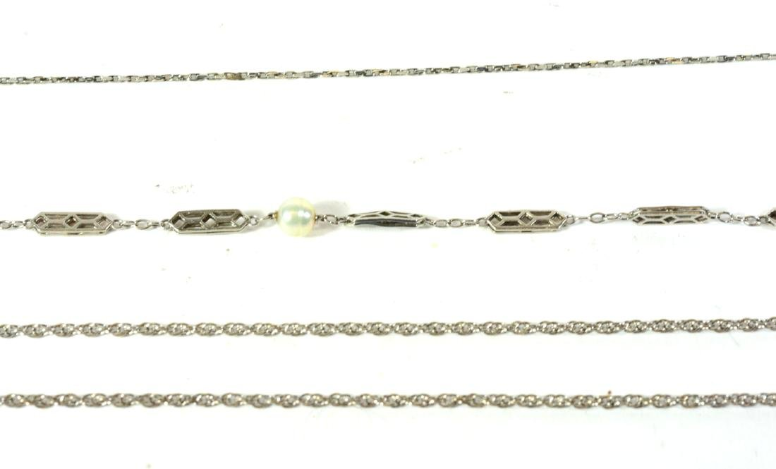 14k White Gold Rope Chain Necklace - 3