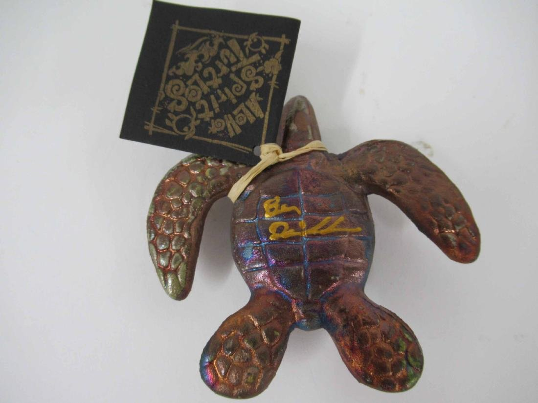 Black and Guild Lacquered Turtle Box - 5