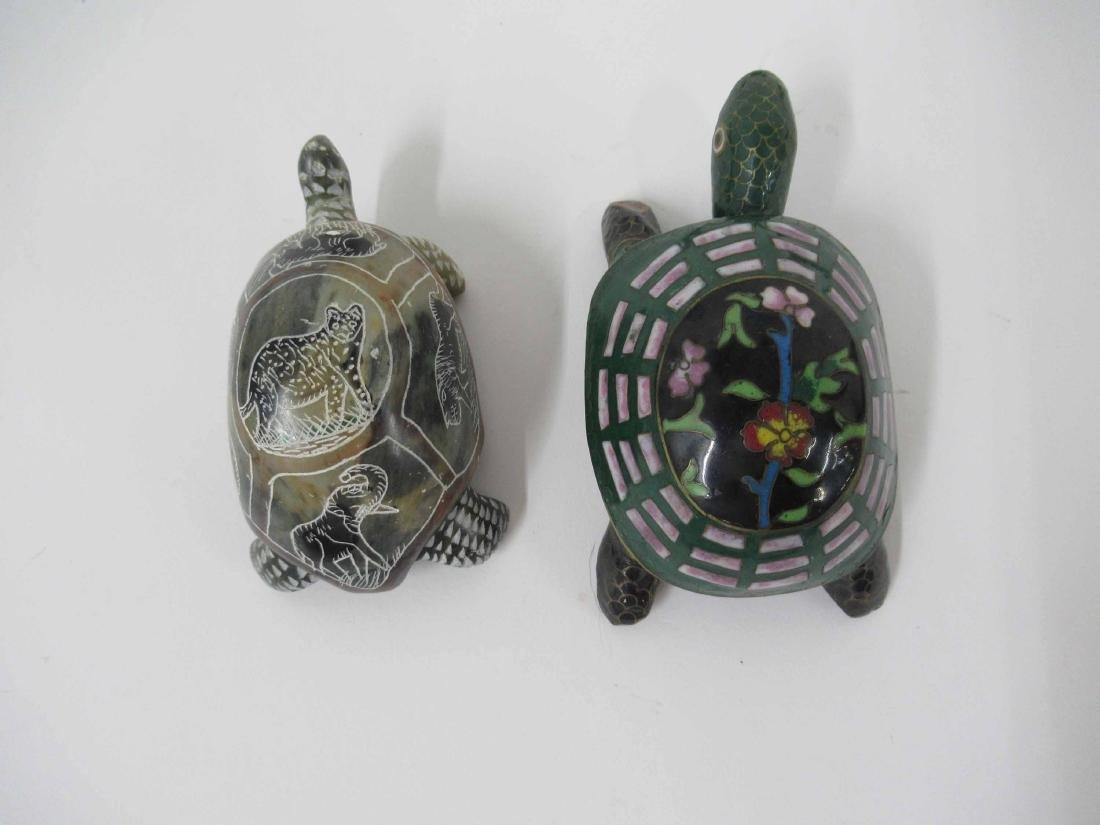 Black and Guild Lacquered Turtle Box - 8