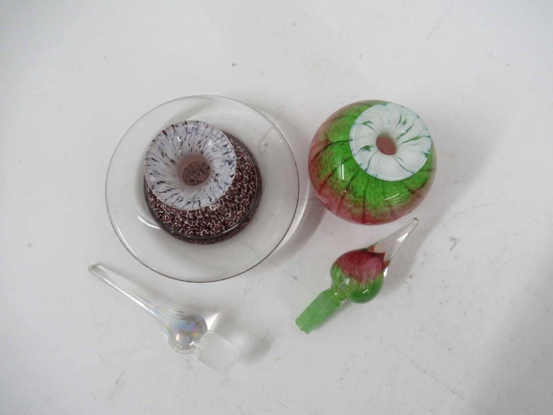 Six Art Glass Perfume Bottles and Stoppers - 5