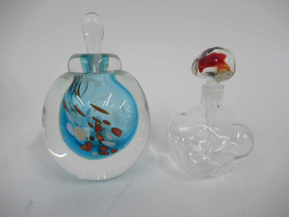 Six Art Glass Perfume Bottles and Stoppers - 3