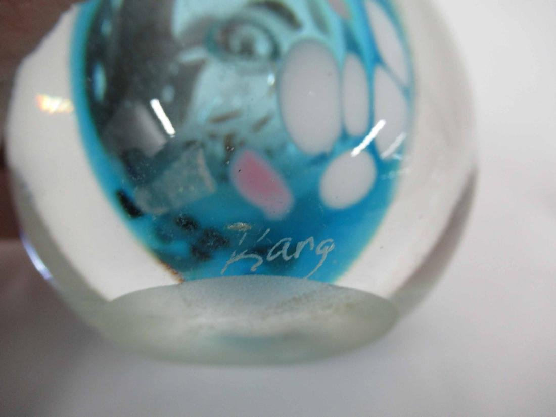 Six Art Glass Perfume Bottles and Stoppers - 6