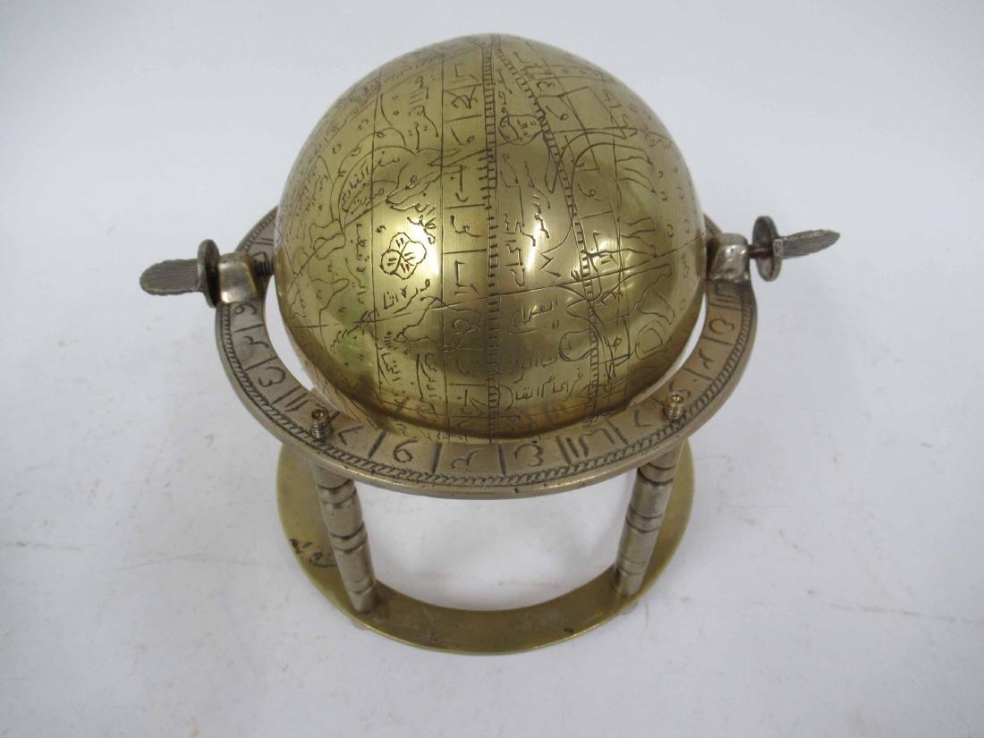 Asian Brass Globe - 2