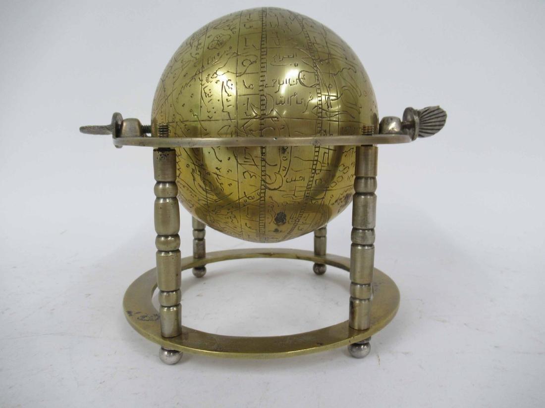 Asian Brass Globe - 3
