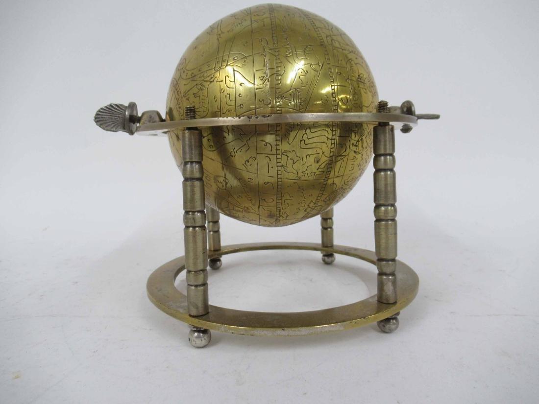 Asian Brass Globe - 4