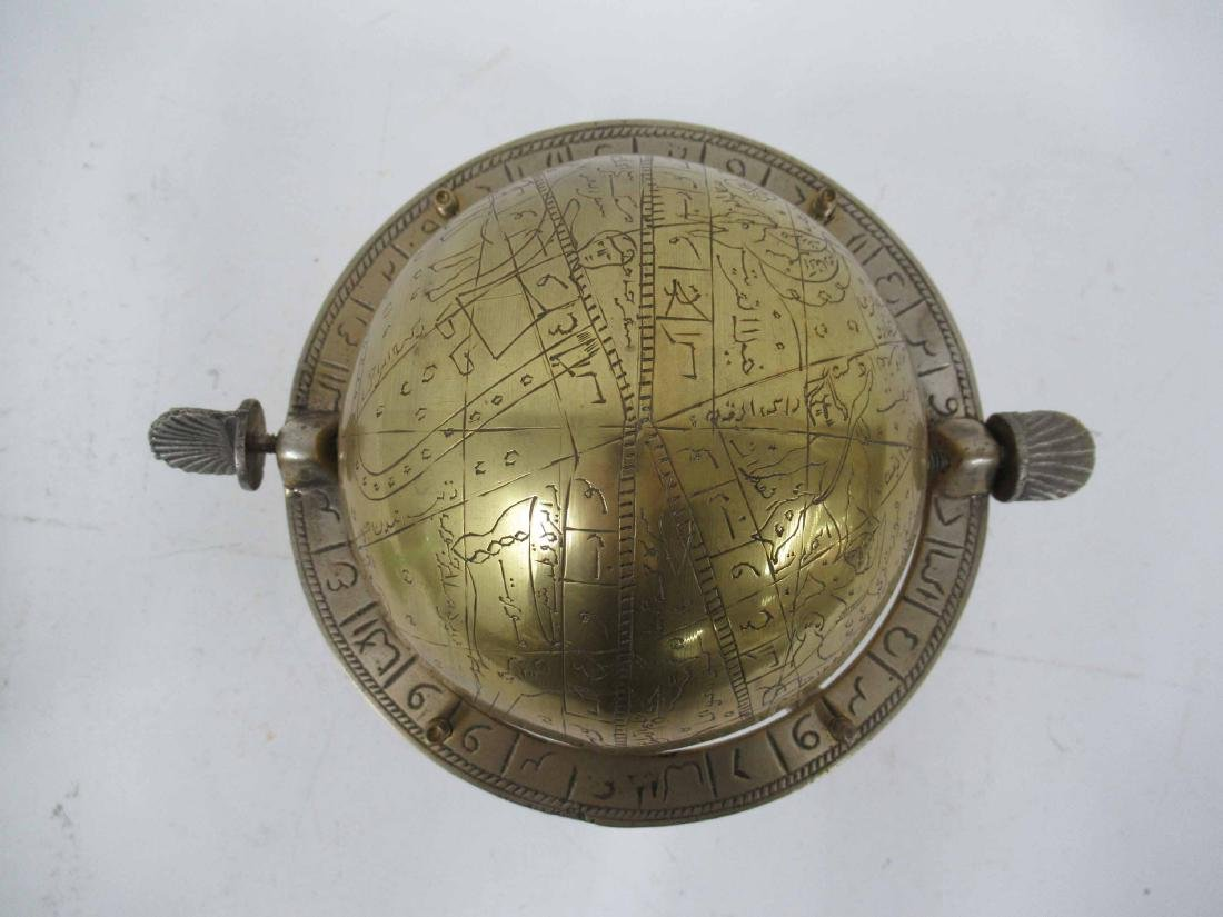 Asian Brass Globe - 5