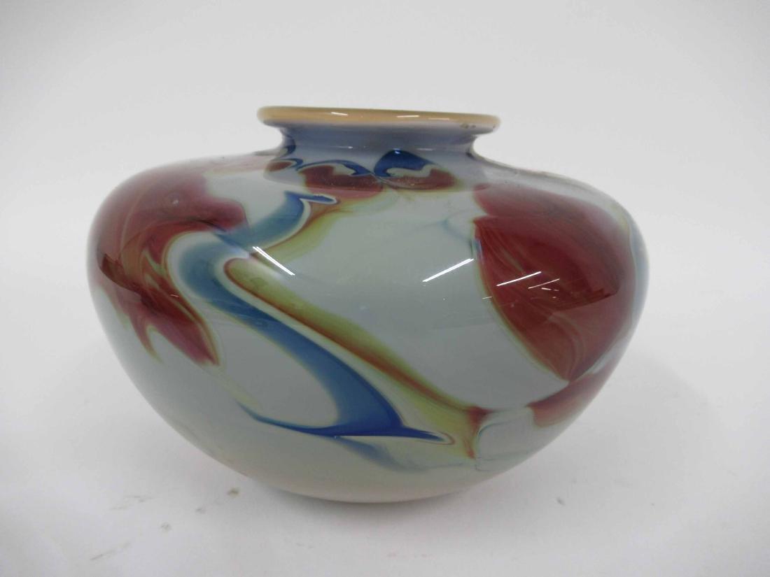 Dick Huss Modern Art Glass Vase