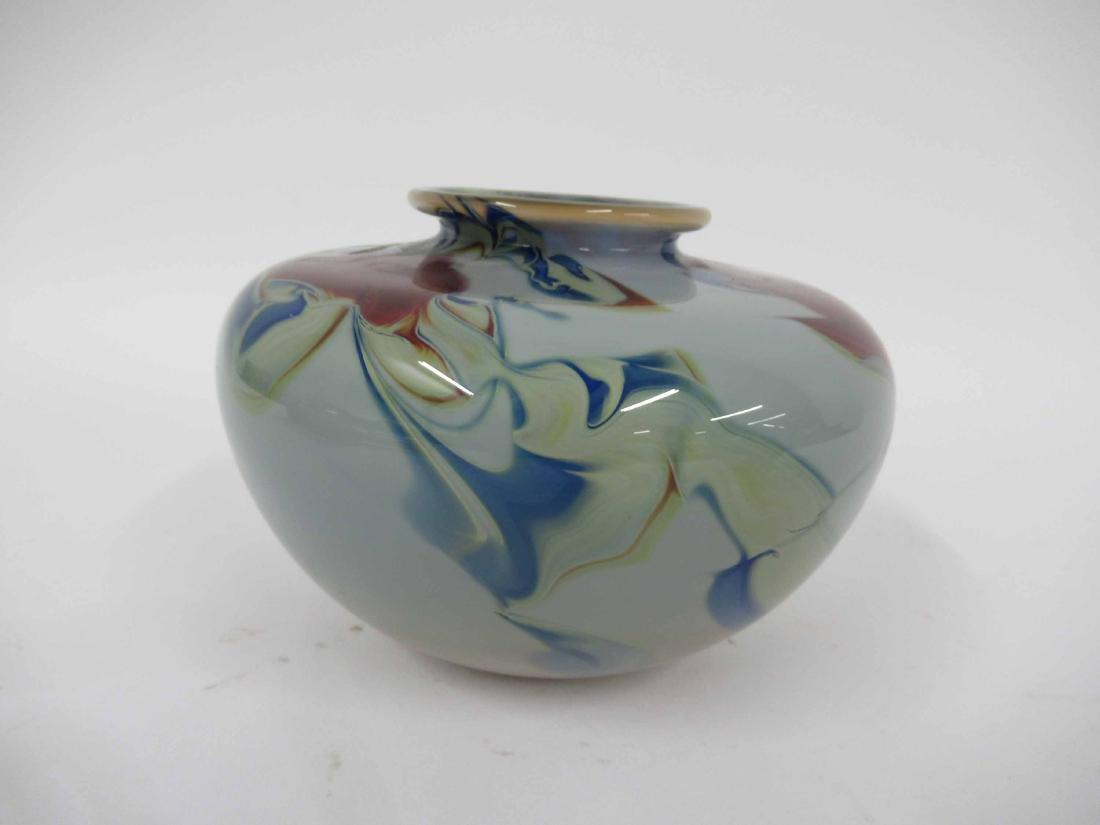 Dick Huss Modern Art Glass Vase - 2