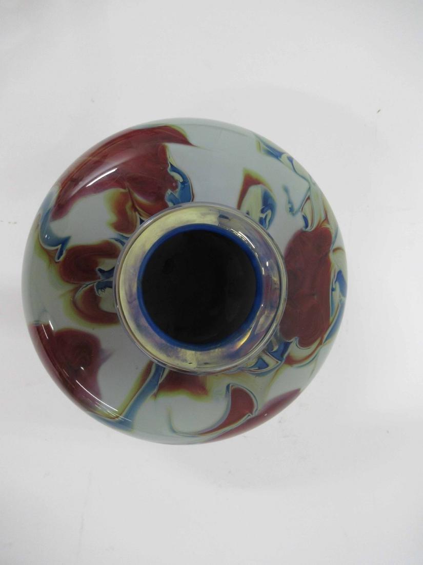 Dick Huss Modern Art Glass Vase - 3