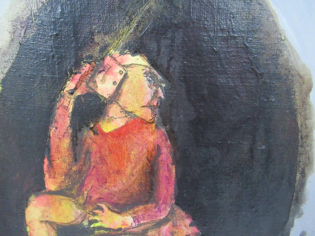 Modern Acrylic on Canvas of Figure - 2