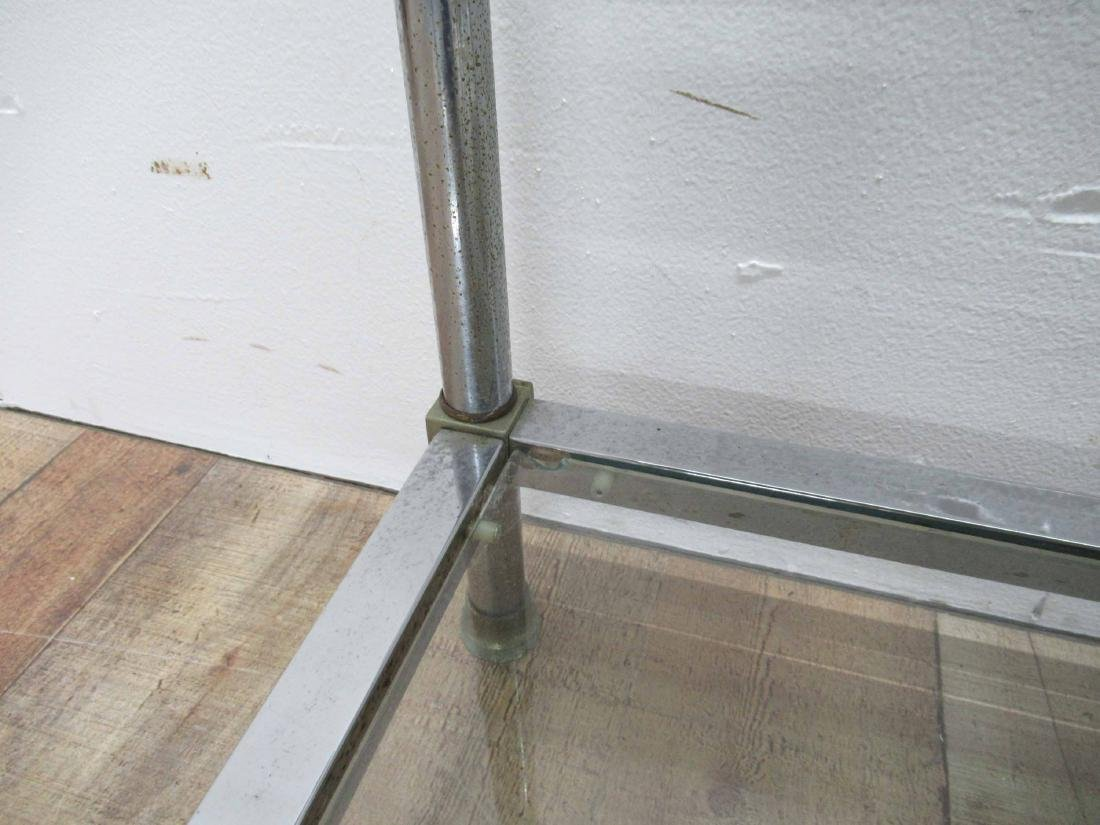 Pair of Chrome and Brass End Tables - 6