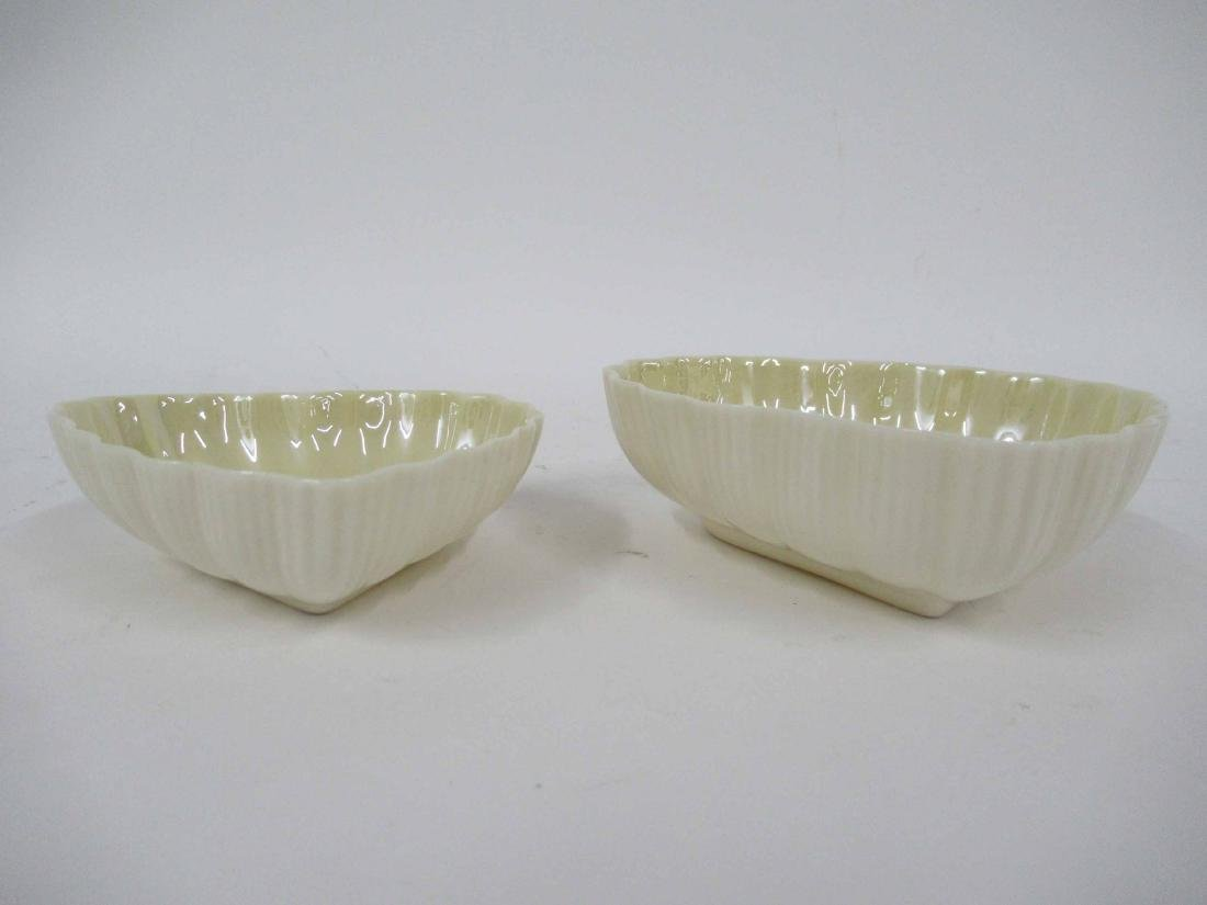 Two Belleek Heart Shaped Dishes - 2