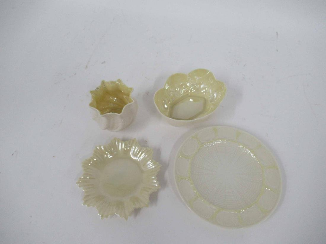 FOUR ASSORTED BELLEEK TABLE ARTICLES - 2