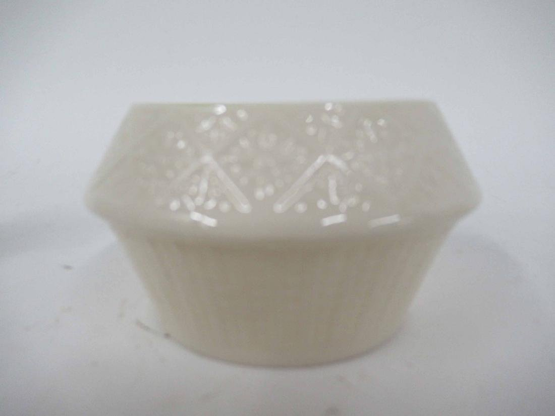 TWO SETS OF BELLEEK CREAMER AND SUGARS - 3