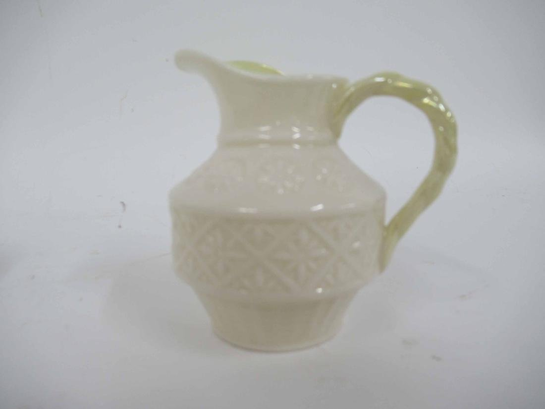 TWO SETS OF BELLEEK CREAMER AND SUGARS - 5
