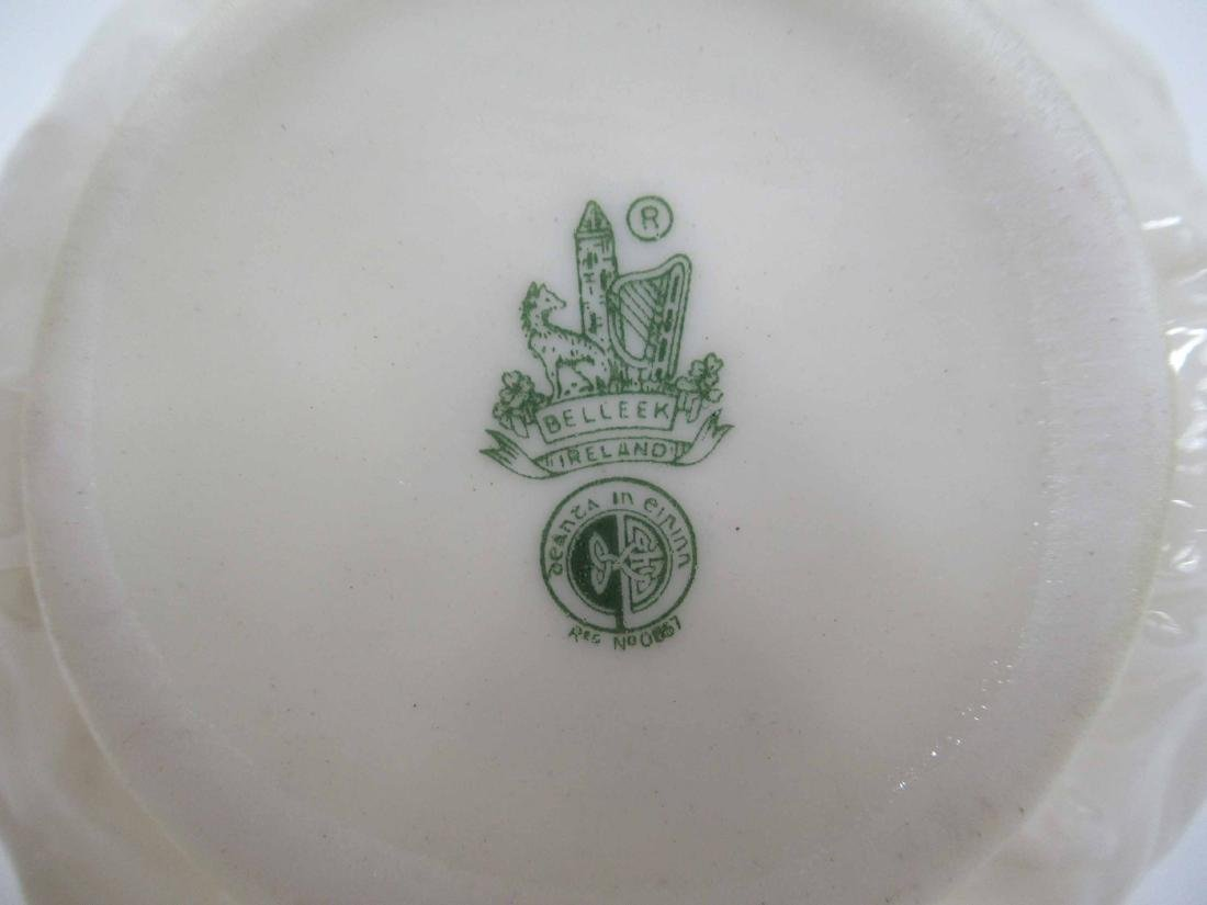 TWO SETS OF BELLEEK CREAMER AND SUGARS - 7